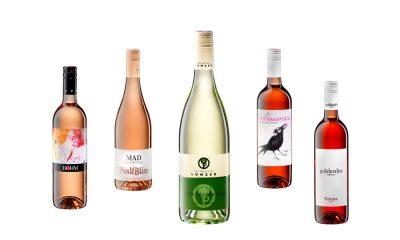 Fotos von Wein und Weinflaschen Burgenland